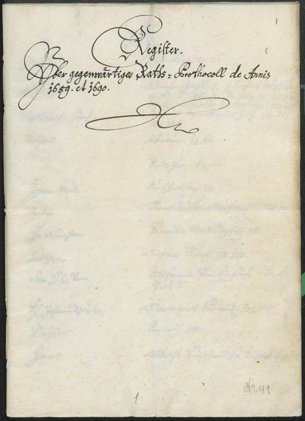 Civic Archives of Bozen-Bolzano - BOhisto Ratsprotokoll 1689/91