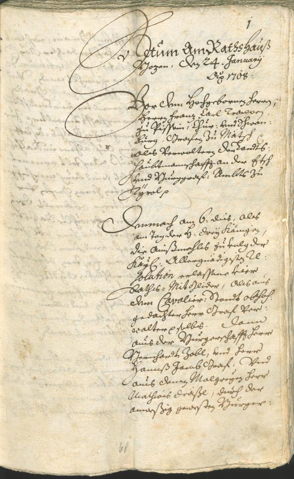 Civic Archives of Bozen-Bolzano - BOhisto Ratsprotokoll 1708/11