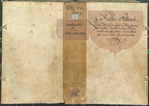 Stadtarchiv Bozen - BOhisto Ratsprotokoll 1735/38
