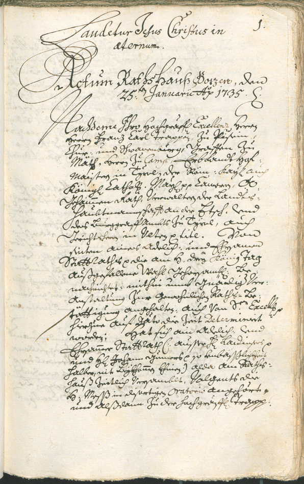 Civic Archives of Bozen-Bolzano - BOhisto Ratsprotokoll 1735/38