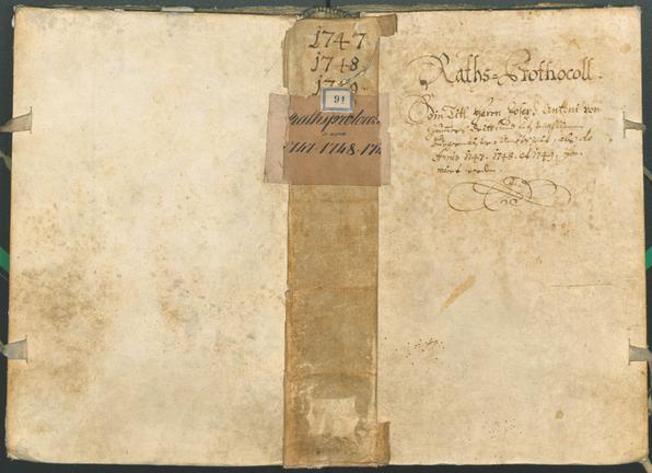 Archivio Storico della Città di Bolzano - BOhisto protocollo consiliare 1747/50