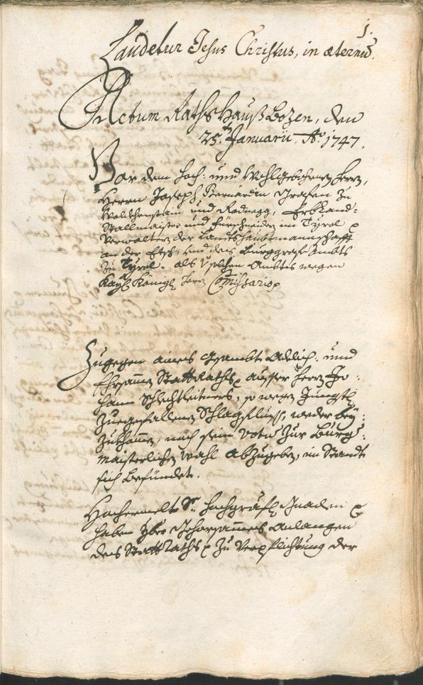 Civic Archives of Bozen-Bolzano - BOhisto Ratsprotokoll 1747/50