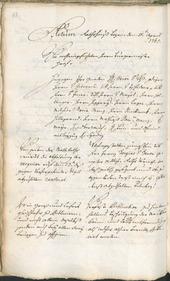 Stadtarchiv Bozen - BOhisto Ratsprotokoll 1765/68 -