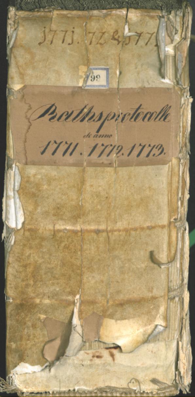 Civic Archives of Bozen-Bolzano - BOhisto Ratsprotokoll 1771/74